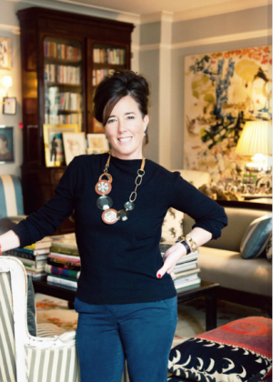 Fashion and homewares designer Kate Spade in her New York home.PNG